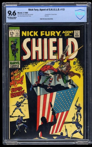 Nick Fury, Agent of SHIELD #13 CBCS NM+ 9.6 Off White to White