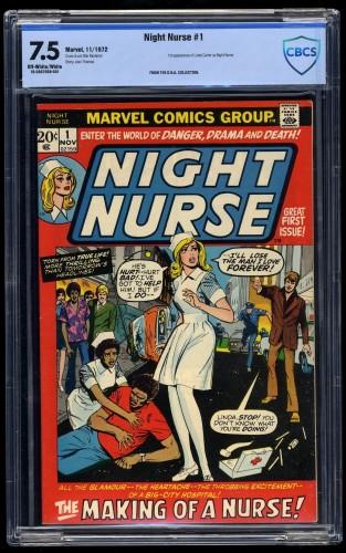 Night Nurse #1 CBCS VF- 7.5 Off White to White