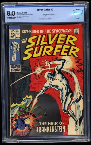 Silver Surfer #7 CBCS VF 8.0 Off White to White