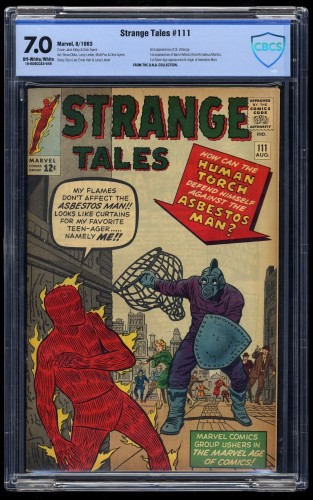 Strange Tales #111 CBCS FN/VF 7.0 Off White to White