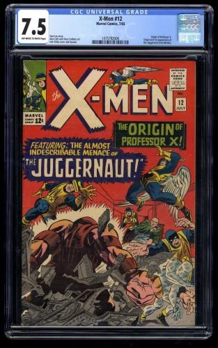 X-Men #12 CGC VF- 7.5 Off White to White 1st Juggernaut!
