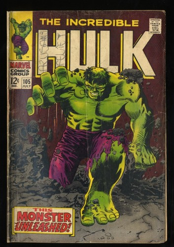 Incredible Hulk #105 GD 2.0