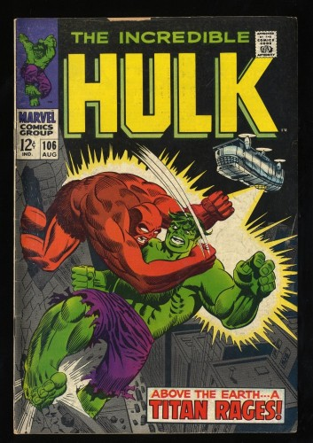 Incredible Hulk #106 VG 4.0