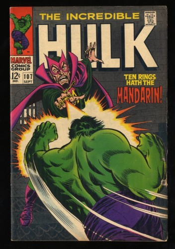Incredible Hulk #107 VG/FN 5.0