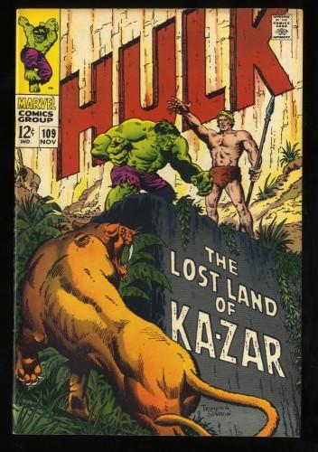 Incredible Hulk #109 VF 8.0