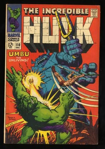 Incredible Hulk #110 VG+ 4.5