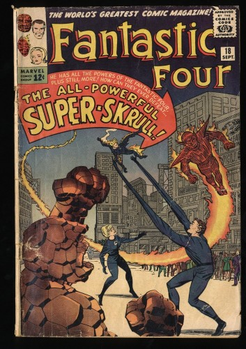 Fantastic Four #18 GD 2.0 1st Super Skrull! Marvel Comics