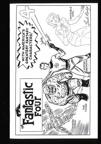 Fantastic Four #1 B&W Kirby Variant (1 copy per store - 2018) NM+ 9.6