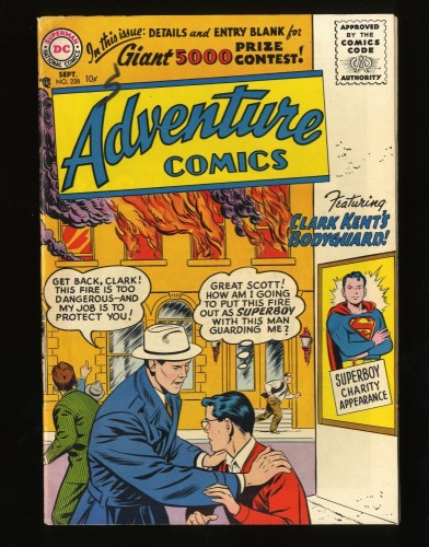 Adventure Comics #228 FN+ 6.5 White Pages Superboy! DC Superman