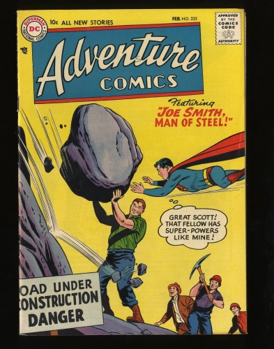 Adventure Comics #233 FN/VF 7.0 White