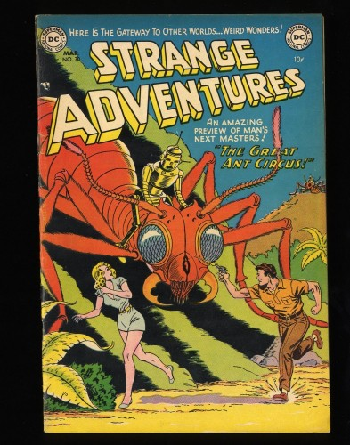 Strange Adventures #30 FN 6.0 Robot Cover!
