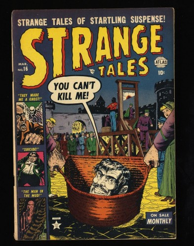Strange Tales #16 FN 6.0 Decapitation Cover