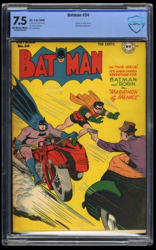 Batman #34 CBCS VF- 7.5 Off White to White