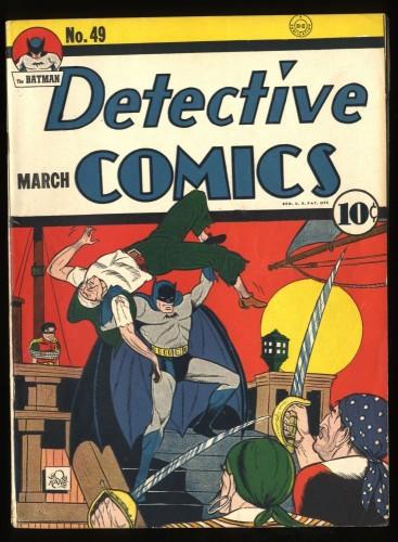 Detective Comics #49 CBCS FN 6.0 White (Restored)