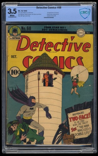 Detective Comics #68 CBCS VG- 3.5 White 2nd appearance of Two-Face!