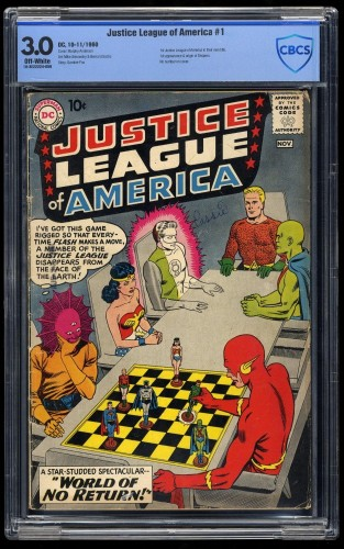 Justice League Of America #1 CBCS GD/VG 3.0 Off White