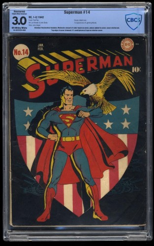 Superman #14 CBCS GD/VG 3.0 Off White to White (Restored)