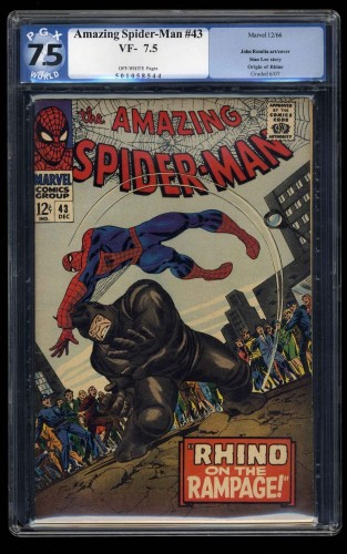 Amazing Spider-Man #43 PGX VF- 7.5 Off White