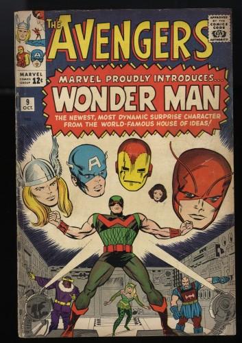 Avengers #9 GD+ 2.5 1st Silver Age Wonder Man app.