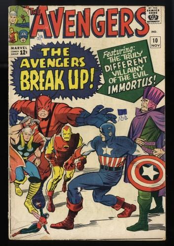 Avengers #10 VG- 3.5