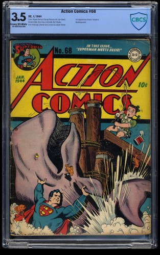 Action Comics #68 CBCS VG- 3.5 Cream To Off White
