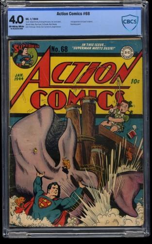 Action Comics #68 CBCS VG 4.0 Off White to White