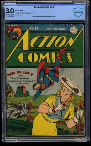 Action Comics #74 CBCS GD/VG 3.0 Off White to White