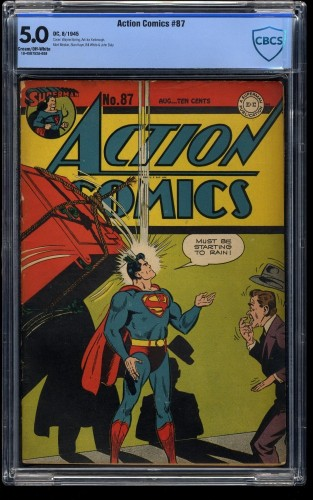 Action Comics #87 CBCS VG/FN 5.0 Cream To Off White