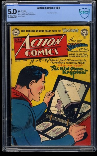 Action Comics #158 CBCS VG/FN 5.0 Off White to White