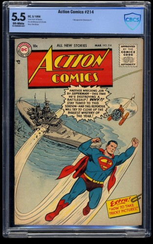 Action Comics #214 CBCS FN- 5.5 Off White