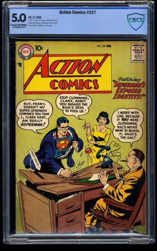 Action Comics #237 CBCS VG/FN 5.0 Cream To Off White