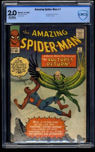 Amazing Spider-Man #7 CBCS GD 2.0 Off White