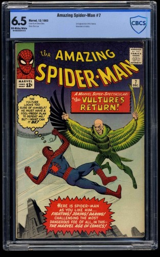 Amazing Spider-Man #7 CBCS FN+ 6.5 Off White to White
