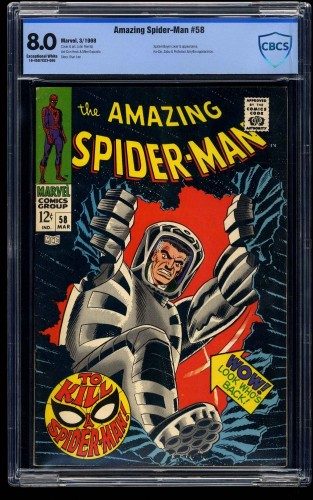 Amazing Spider-Man #58 CBCS VF 8.0 Exceptional White