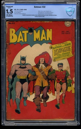 Batman #32 CBCS FA/GD 1.5 Off White (Restored)