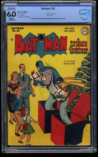 Batman #45 CBCS FN 6.0 White Pages (Restored)