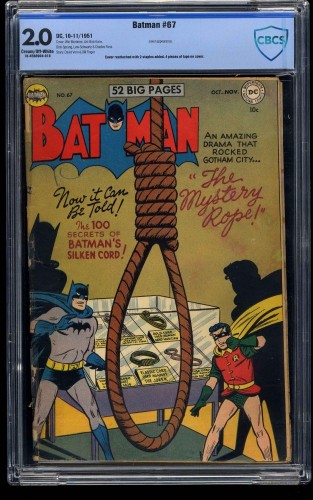 Batman #67 CBCS GD 2.0 Cream To Off White
