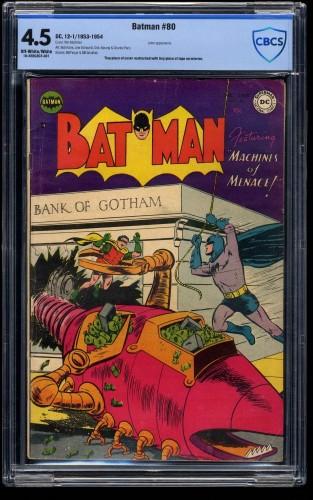 Batman #80 CBCS VG+ 4.5 Off White to White