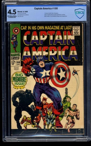 Captain America #100 CBCS VG+ 4.5 Off White to White