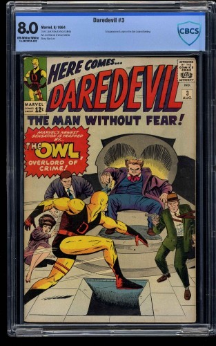Daredevil #3 CBCS VF 8.0 Off White to White