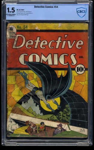 Detective Comics #54 CBCS FA/GD 1.5 Off White to White