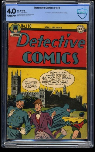 Detective Comics #110 CBCS VG 4.0 Off White to White