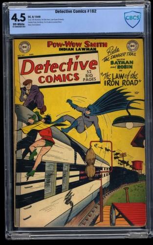 Detective Comics #162 CBCS VG+ 4.5 Off White