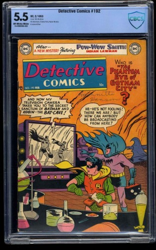 Detective Comics #192 CBCS FN- 5.5 Off White to White