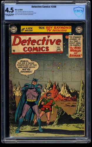 Detective Comics #208 CBCS VG+ 4.5 Cream To Off White