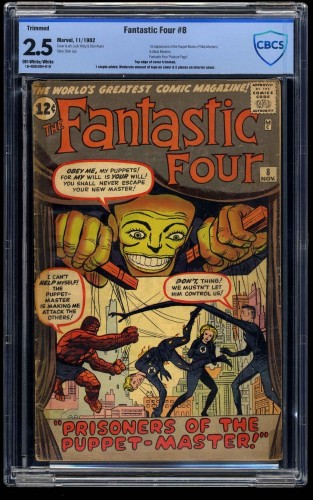 Fantastic Four #8 CBCS GD+ 2.5 Off White to White (Restored)
