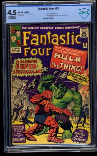Fantastic Four #25 CBCS VG+ 4.5 Off White