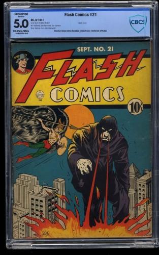 Flash Comics #21 CBCS VG/FN 5.0 Off White to White (Restored)