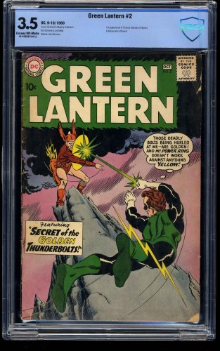 Green Lantern #2 CBCS VG- 3.5 Cream To Off White