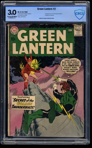 Green Lantern #2 CBCS GD/VG 3.0 Cream To Off White
